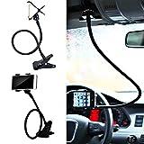 Universal Flexible Lazy Bracket Mobile Phone Holder For iPhone Car Bed Desk Stand Soporte Para Celulares Coche (Black)