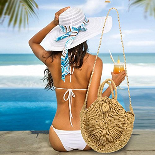 Tejida Playa Bohemio para Hombro de hogar Doble Uso Moda de Almacenamiento Mujer Bolsa Bolso de el Estilo de Following para único Paja q8OUIHnw