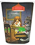 RNK Shops Dogs Playing Poker by C.M.Coolidge Waste Basket - Double Sided (White)