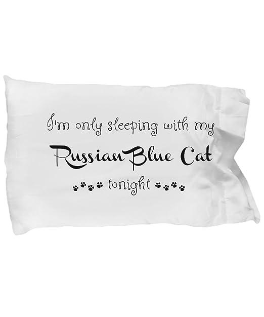Gato azul ruso funda de almohada - divertida funda de ...