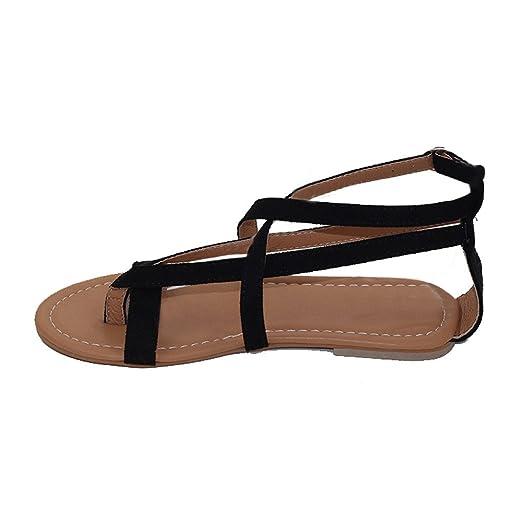 88dae21f3cb92 Amazon.com: {Minikoad} Womens Flat Roman Sandals, Ladies Tie up ...