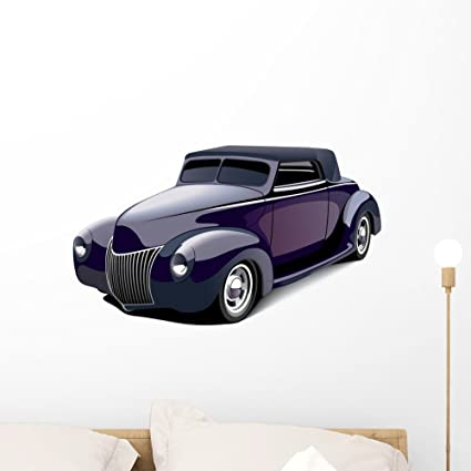 Amazon Com Wallmonkeys Classic Purple Muscle Car Wall Decal Peel