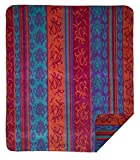 Denali Home Collection by Mont Double-Sided Reversible Throw, 60 by 70-Inch, Tapestry/Magenta