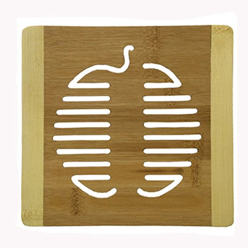 Creative Apple Moso Bamboo Place Mat/ Cup Mat/ Pot Holder, Set of 4