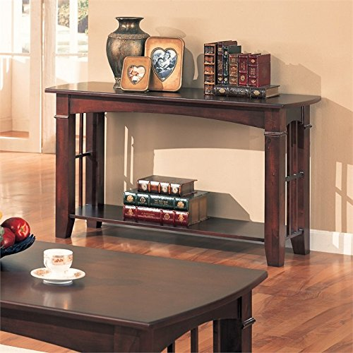 coaster-antique-country-style-sofa-table-cherry-finish