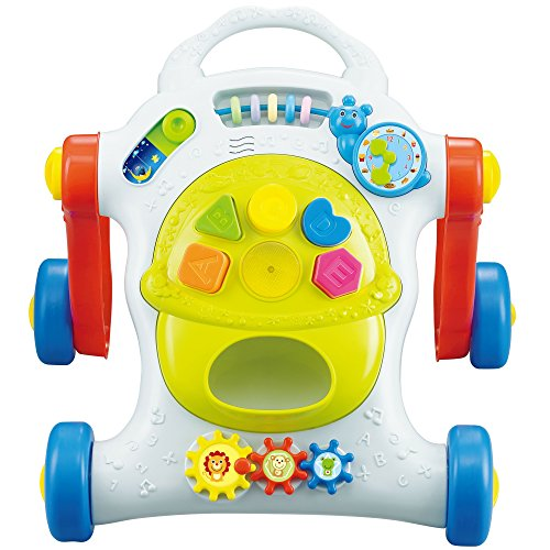 Baby Walker and Activity Center – Educational and Interactive Baby Toys – Battery Powered with Colorful Shapes Sounds and Lights For your Baby`s First Steps – Perfect Toys for 1 Year old Kids