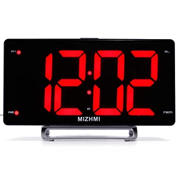 Reloj Radio Digital con Despertador Proyector Alarma Pantalla ...