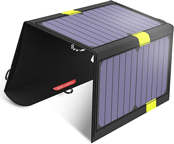 Portable Solar Chargers X-DRAGON 20W SunPower Solar Panel Waterproof Foldable Camping Battery Charger with Dual USB Ports & SolarIQ Technology for ...