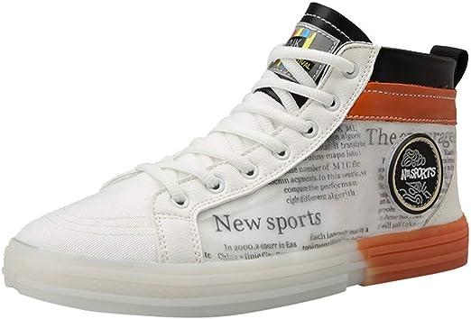 RYTEJFES Zapatos De Lona Transpirables De Los Hombres Zapatillas ...