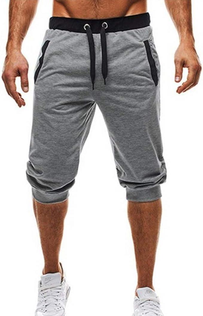 Pantalones cortos VANVENE para hombre, de algodón, transpirables, para entrenamiento, correr, para correr, para hombre: Amazon.es: Ropa y accesorios