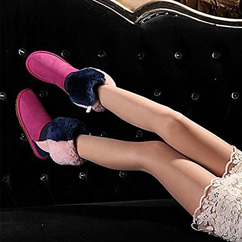 Stivali Stivali Caldo NVX di di di Fatto 3 Pelle Medio Pecora Mano a Colori Donna Pelle 38 Tenere Cilindro Inverno di metri Genuino Piccoli Misti 38 wqxACqpXP