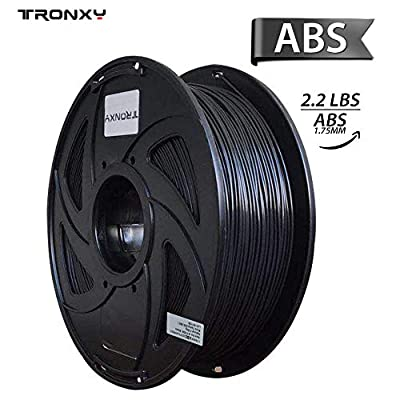 ABS 3D Printer Filament, Dimensional Accuracy +/- 0.02 mm, 1 kg Spool, 1.75 mm, Black