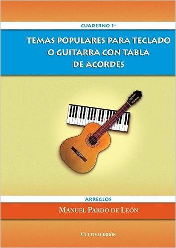 Temas Populares para Teclado o Guitarra con Tabla de Acordes ...