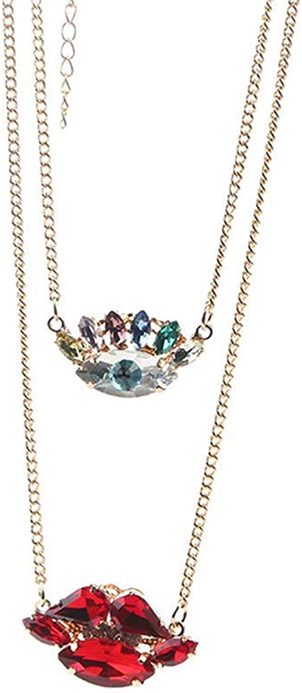 Sra. Collar de regalo de los ojos de la piedra preciosa de la joyería del beso Pendientes Anillos Collares collar de joyas de regalo