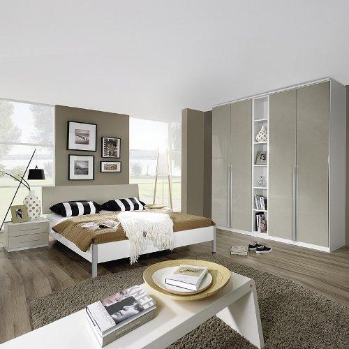 Schlafzimmer Set »MODENO221« Hochglanz weiß, Alpinweiß