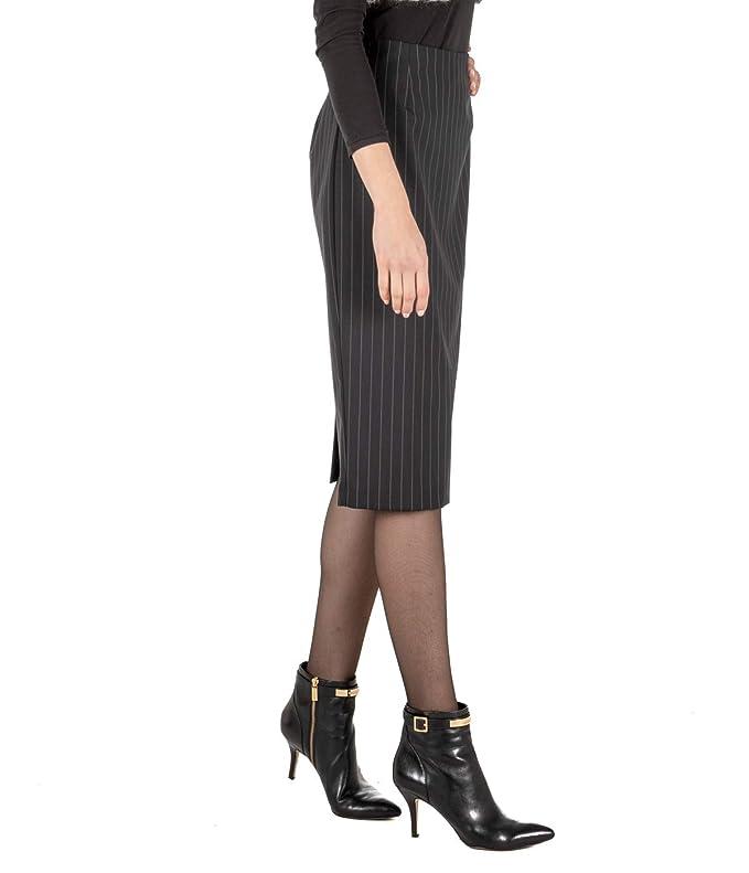 Pinko - Falda para Mujer, Color Gris, Larga, Fresca, de Lana Jami ...