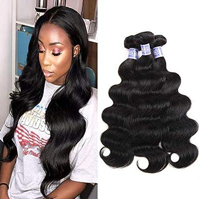Sayas Hair 10A Grade Brazilian Body Wave Human Hair Bundles Weave Hair Human Bundles Brazilian Virgin Hair