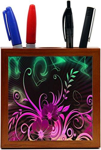 Rikki Knight Floral Glow Design Design  Inch Tile Wooden ...