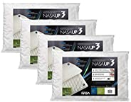 kit 4 pçs travesseiro nasa up 3 p/fronhas 50x70 - Fibrasca