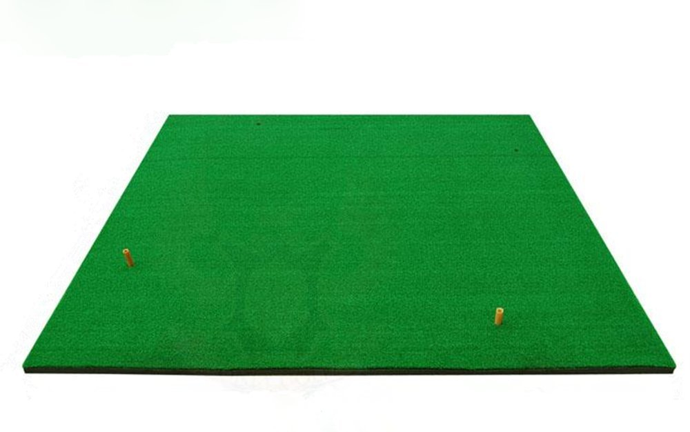 Greatgymats Golf Hitting Mat 5 x5 with 3D Interlayer, Golf Chipping and Driving Swing Practice Mat