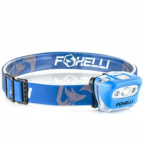 Foxelli Headlamp Flashlight   Bright 165 Lumen White Cree Led   Red Light  Perfect For Runners  Lightweight  Waterproof  Ipx5   Best Headlight For Kids  3 Aaa Batteries Included
