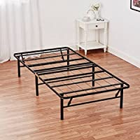 Mainstays 14 High Profile Foldable Steel Bed Frame with Under-Bed Storage