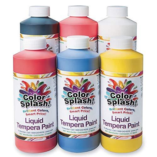 16-oz. Color Splash!A Liquid Tempera Paint Assortment (Pack of 6) (Tempera Paint Assortment)