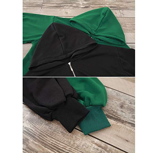 Tinta Donna Con Xl Maniche Black Unita Lunghe Green Cappuccio Da In Size color Winproof A Cotone Cappotto Funytine Iapf0X