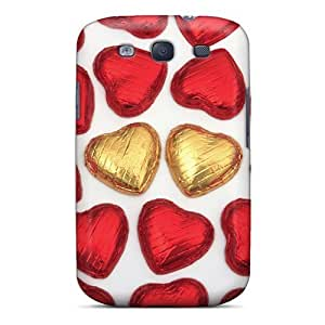 Hot Snap-on Heart Chocolate Hard Cover Case/ Protective Case For Galaxy S3