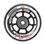 Rollerblade ABEC 5 Skate Bearings Complete Wheel Kit, 72mm/80A, Clear