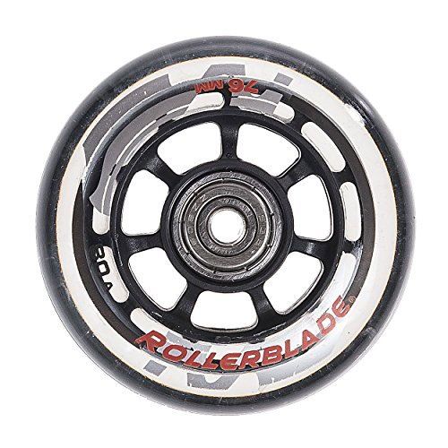 Rollerblade ABEC 5 Skate Bearings Complete Wheel Kit, 72mm/80A, Clear (Best Inline Wheels For Concrete)