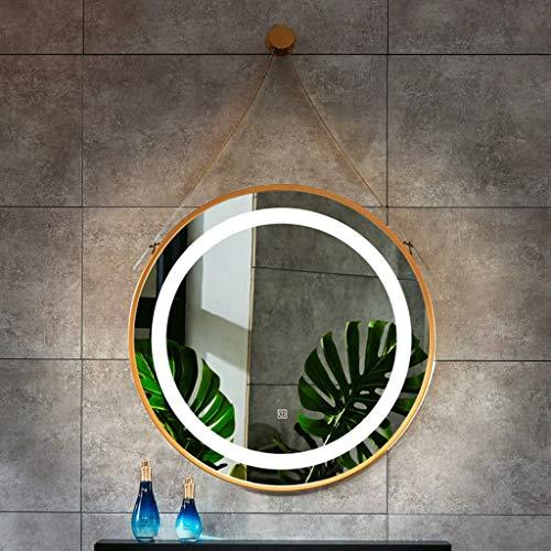 JKFZD Touch LED Illuminated Round Bathroom Mirror Diameter 500mm 600mm Backlit Illuminated -