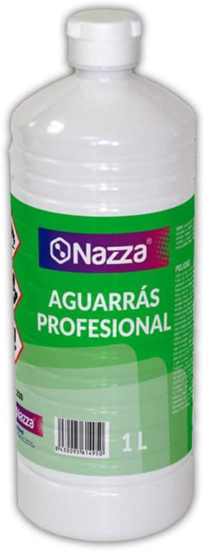 Aguarrás de uso Profesional Nazza | Diluyente orgánico sin disolventes recuperados | Envase de Plástico de 1 Litro