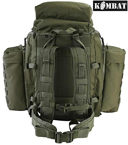 90L Military Army Assault Tactical Backpack Camping Surplus New Rucksack Green Pack Olive 6Owqxnxa