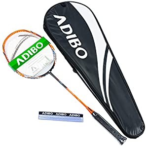 ADIBO Badminton Racket, Professional Badminton Racquet with Bag for Outdoor