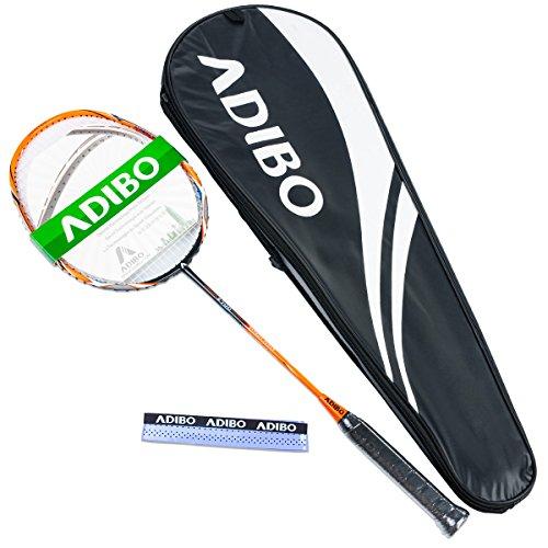ADIBO Badminton Racket, Professional Badminton Racquet with Bag for Outdoor