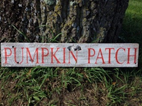 Pumpkin Patch Repurposed Wood Sign