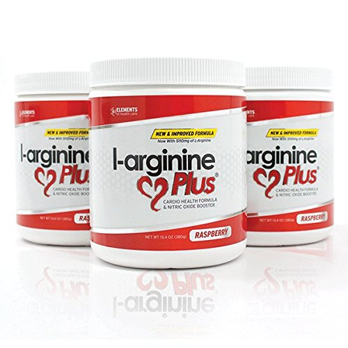 #1 L-Arginine Plus® Official Formula - Raspberry Flavor 3-Pack, Better Blood Pressure, Cholesterol, Energy, Muscle Development & More - #1 L-arginine Supplement - 3 Bottles of Popular Raspberry Flavor