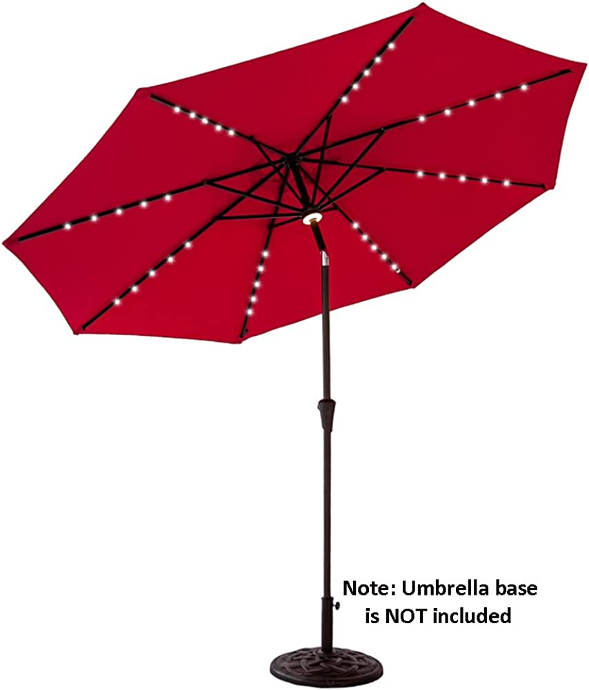 FLAME SHADE 10 ft Outdoor Patio and Table Umbrella