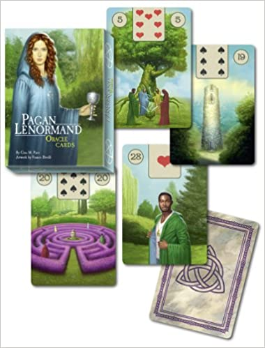 Pagan Lenormand Oracle Cards: 36 full colour cards & 128 pp book Boxed Set