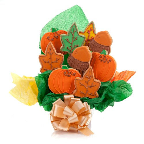 Happy Autumn Cookie Bouquet- 9 Pc - Halloween Bouquet Cookie