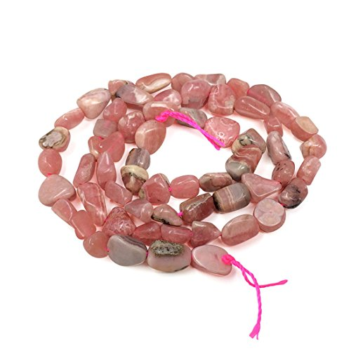 Top Quality Natural Rhodochrosite Gemstone Center Drilled Oval Rice Stone Beads 16
