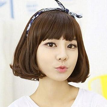 Amazon.com  South Korea long hair short hair pear head Liu