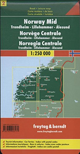 MapNorway Central Road Maps FB English German Italian - Michelin norway map 752