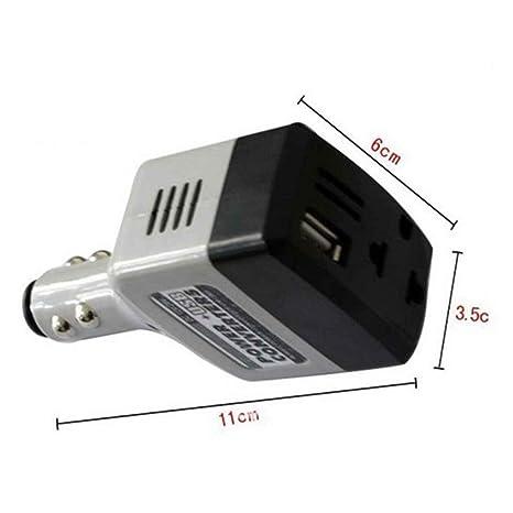 Flushzing 12V / 24V a 220V USB Negro plástico ABS teléfono ...