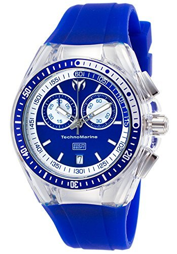 Technomarine Women's 'Cruise' Quartz Stainless Steel and Silicone Casual Watch, Color:Blue (Model: TM-115334)