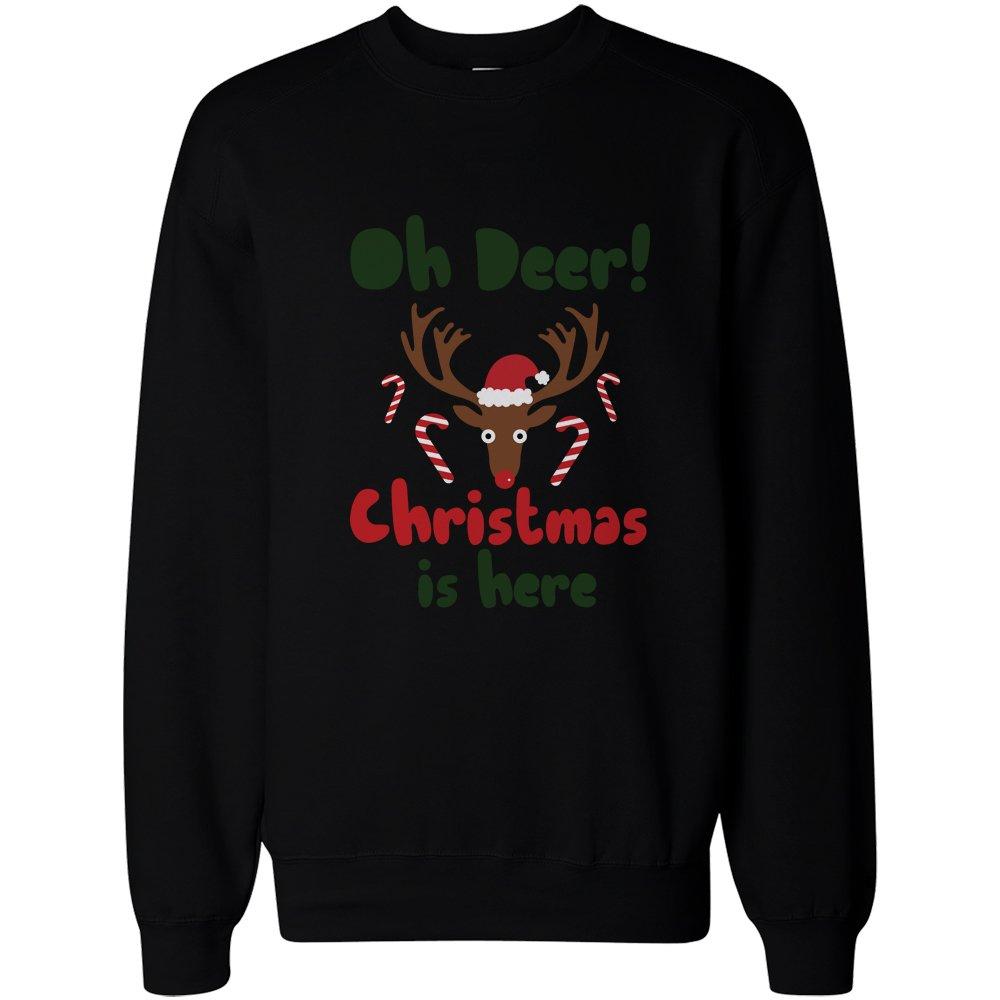 365 Printing Oh Deer Christmas is Here Cute Sweatshirts Holiday ...