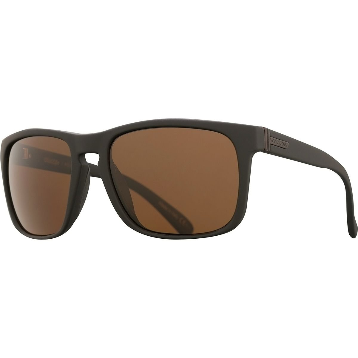 06bf1aae533 VonZipper Lomax Wildlife Polarized Sunglasses Black Soft Satin Wild Bronze  Polar