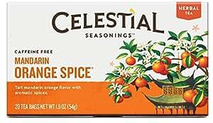Celestial Seasonings Mandarin Orange Spice Herbal Tea, 20 Count (Pack of 6)
