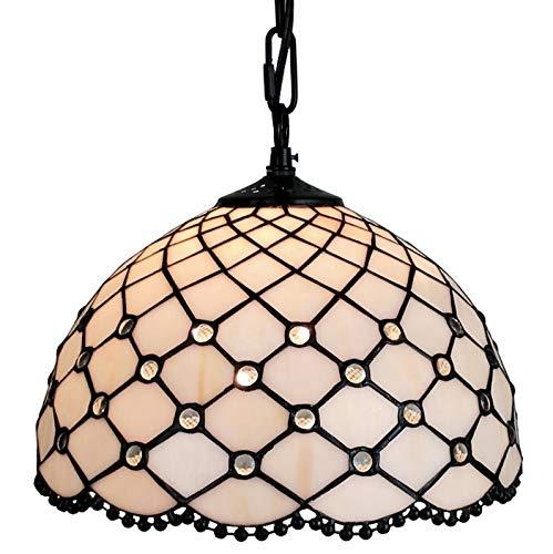(Amora Lighting AM119HL12 Jewel Tiffany Style Hanging Lamp 12 in)